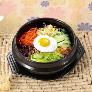 610ml 1100ml 1500ml Классический корейской кухни Наборы Dolsot Stone Bowl Горшок для Bibimbap Ceramic Суп Ramen чаш с лотком