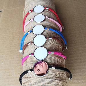 Sublimation leere Armbänder für Frauen Art und Weise heißen Transferdruck Seil Armband benutzerdefinierten leeren Verbrauchsmaterialien 6colours 15pieces / lot CX200730