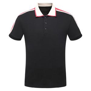 Summer Fashion Casual Men Polo Striped Cotton Polo Shirts mit kurzen Ärmeln Polo-T-Shirts