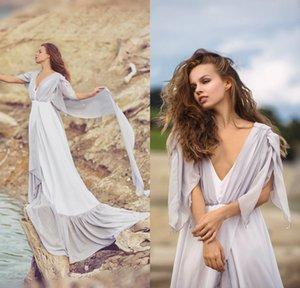 Women Wedding Sleep Wear V-Neck Tulle Night Robes Lingeries Woman Sweep Length Wedding Night Dress Bathgowns