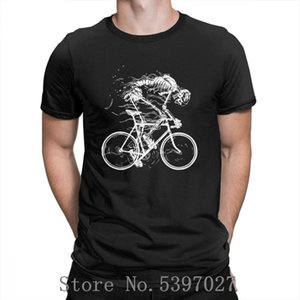 Ride Like Hell Skeleton Skull Bike Cycle T-Shirt Short Sleeves Tees for Men Round Neck T Shirts Vintage Amazing 100% Cotton