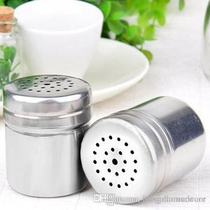 Kitchen Stainless Steel Condiment Shakers Kitchen Container BBQ Seasoning Bottle Pepper Powder Tool Spice Powder Sprinkling Pot BH0080