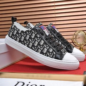 Fashion Shoes Mens Flats Breathable Mens Casual Shoes Luxury Summer Footwears Sneaker Walk &#039 ;N Sneaker In Oblique Embroidered Canvas Ho
