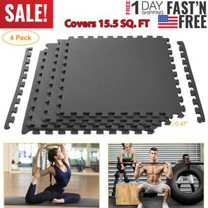 15.5 SQ FT Interlocking EVA Foam Floor Mat Puzzle Tiles Gym Exercise Gray US