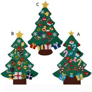 Felt cloth Christmas tree children handmade DIY vivid gift Xmas tree for malls home decor W7964