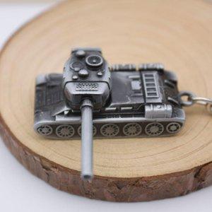 cadena de batalla de tanques Panzer blindado llave del vehículo anillos de metal clave llavero del coche de motor del tanque Rotatorio cañón de la pistola torreta