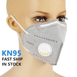 Envio Grátis! Máscara reutilizável kN95 Com Vavle Filtro Dustproof respirável Máscara Facial Máscara Respirador de protecção Mascarilla Boca