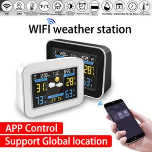 와이파이 날씨 역 무선 기상 관측소 온도계 습도계 일기 예보 시계 LCD 컬러 화면 표시 APP 제어