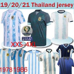 20 21 Argentina de Futebol Retro Jersey Maradona 86 Clássico Vintage 1978 Retro Argentina 78 camisas do futebol Maillot Camisetas de Futbol Tailândia