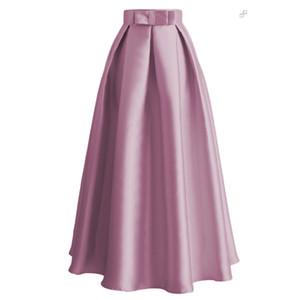 Plus Size Skirts Faldas Mujer Moda 2020 Abaya Dubai Turkish Long Pleated Maxi High Waist Skirt Women Jupe Longue Femme Skirts