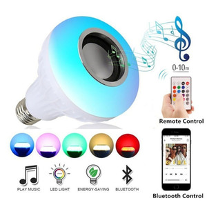 LED RGB Remote Control 4.0 Wireless Bluetooth Speaker Colorful Light Bulb Music Play Audio