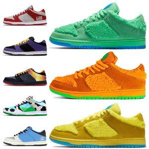 des chaussures nike sb dunk low af 1 off white grateful dead chaussures vert orange jaune ours chunky dunky femmes hommes chaussures de course méchants garçons formateurs