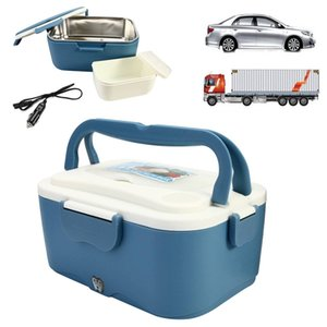 1.5L 12V / 24V carro elétrico Lunch Boxes Outdoor Viajando refeições Aquecedor Truck Lunchbox Food Storage Container Box Louça presente T200710