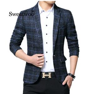 Trajes para hombre SWEETWOO Hombre Blazers del ajustado de los hombres de negocios de vestuario formal partido Blazer Hombres
