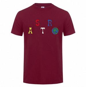 Männliche Hip Hop-Sommer-T-Shirt Travis Scott Astroworld Brief-Druck-Frauen beiläufige Art und Weise Wear Tees Herren-Oberteile T-Shirt ehrfürchtig Shirt Tmrz #