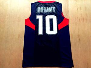Cheap Custom Bryant # 10 Basketball Jersey Mens Alle genähtes Gewohnheit irgendeine Nummer Name Größe 2XS-4XL Freies Verschiffen