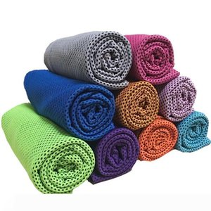 Ice Cold Towels Double Layer Cool Ice Towel Summer Sunstroke Sports Yoga Exercise Cool Quick Dry Soft Breathable Hand Towels LX7516
