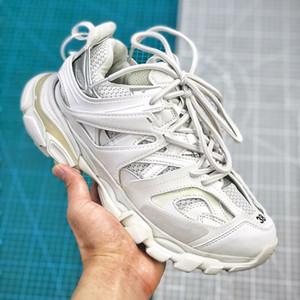 Negro púrpura de París Track 3.0 Tess Hombres Mujeres Triple S Runner Calzado casual Gris Clunky la zapatilla de deporte de malla transpirable papá zapato de senderismo Alpargatas