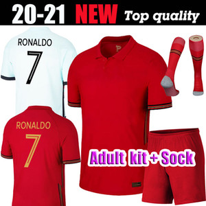 Kit para adultos 2020 21 Portuga fútbol jerseys # 7 RONALDO # 10 SILVA la camisa del fútbol Uniforme para hombre # 23 JOAO FELIX NEVES GUEDES Fútbol