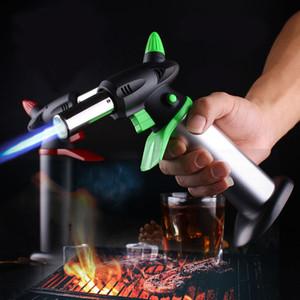 Kitchen Pistol Turbo Lighter Outdoor Spray Gun Torch Gas Jet Windproof Camping Lighter Butane Big Firepower Welding BBQ Baking