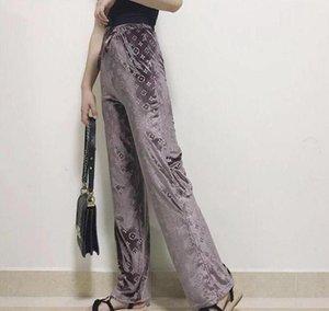 İleri Teknoloji Tasarım Yeni Kadın Giyim Avrupa ve Amerikan moda lüks Geniş Bacak Pantolon Casual Gevşek Yüksek Waisted Pantolon Süper Rahat