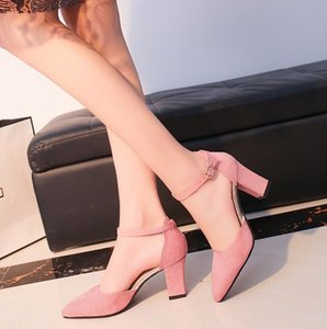 2020 Sandalias femeninas high heels Autumn Flock pointed sandals sexy high heels female summer shoes Female sandals