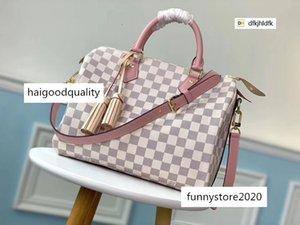 dfkjhldfk S3Z9 M44367 Pink Plaid Crossbody WOMEN HANDBAGS ICONIC TOP HANDLES SHOULDER BAGS TOTES CROSS BODY Bag CLUTCHES EVENING