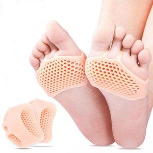 ABER Dropshipping silicone imbottito Forefoot Plantari scarpe Pad Gel solette traspirante sanità del sottopiede del pattino del pattino dell'alto tallone di inserimento