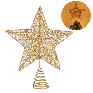 Christmas Tree LED Star Tree Topper Battery Operated Treetop Decoration Hanging Xmas Decoration Ornament Topper Dimensional