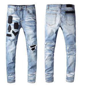 Mens Designer 2020 Hot Sale New Casual Mens Jeans Motorcycle Biker Ripped Jeans Denim Pants Mens Hip Hop Slim Skinny Jeans
