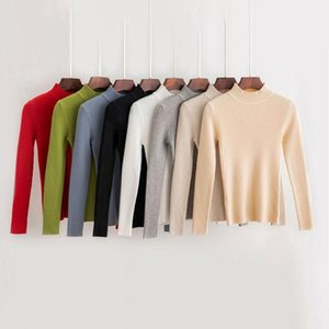 Women Solid Sweaters Autumn Winter Turtleneck Pullovers Sweaters Primer Shirt Long Sleeve Korean Slim-fit Tight Female Clothes