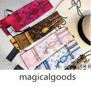 Fashionable hair band for men Designer women scarf brand scarf silk bow ribbon bag handle bindin