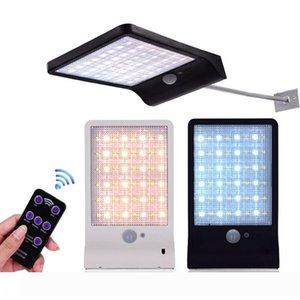 Edison2011 48 LED Solar Powered télécommande Éclairage extérieur avec détecteur de mouvement PIR IP65 étanche Garden Street Lampe solaire