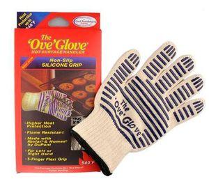 Die Ove Handschuh-Mikrowellenherd-Handschuh 540 F hitzebeständig Beständig Kochen Hitze Proof Ofenhandschuh Handschuhe für Küche Restaurants Bar
