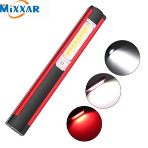 ZK20 COB Lantern Working Flashlight Portable Torch USB Charging Lanterna Build-In Battery with Magnet Pen Holder Working Light Y200727