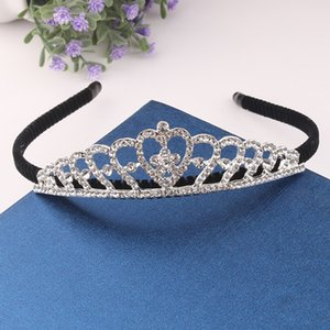 Luxury Bridal Jewelry Tiara Headpieces White Crystal Crown Bride Princess Crown Headpiece For Pageant 2020 Wedding Bridal Accessories