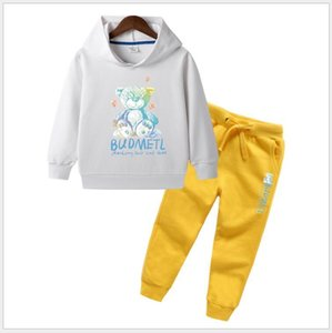 Kids hooded sweater autumn new products kids two-piece suit designer boy's suit female designer two-piece sweater
