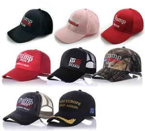 Trump Hats Trump Election Baseball Caps Mesh Ponytail Beanie Embroider Adjustable Ball Cap Hats Printed Make America Sports Cap LSK298