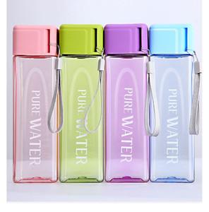 في الهواء الطلق المحمولة زجاجة المياه القدح 17oz المياه الرياضة ساحة الموضة شفافة كؤوس سعة كبيرة زجاجات المياه البلاستيكية كأس DWD609