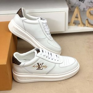 2020b customized version of luxury design printed high-quality leather sneakers wild mens casual shoes mens banquet shoes Size: 38-45
