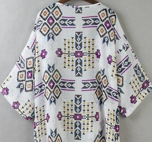 2019 New Arrival Women Fashion Chiffon Blouse Summer Cardigan Beach Kimono Print Sexy Plus Size Women Clothing Party Club Blouse wholesale