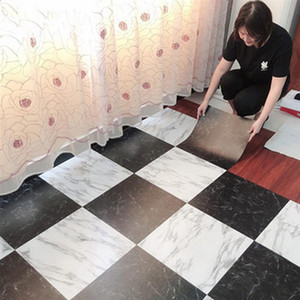 30 * 30 cm a prueba de agua de mármol del piso Pegatinas Fondos de auto adhesivo etiqueta de la pared de la cocina renovación de la casa DIY de la pared de tierra parche Decoración
