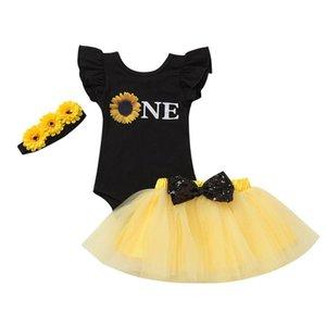 الرضع الطفل الوليد عباد الشمس واحدة بنات رومبير تول التنورة الأميرة مجموعة وتتسابق