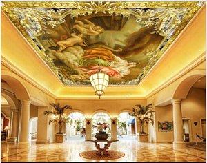 Custom ceiling mural wallpaper 3d zenith mural for living room European style angel oil painting bedroom ceiling mural wall paper decoration