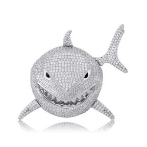 6ix9ine köpekbalığı kolye hop zirkon kişilik rap kolye Hip dolu Erkekler Takı Hediye takılar Kolye boncuklu