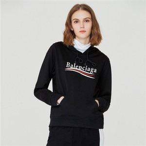Diseñador para mujer Sudaderas Fleece Pullover Hoodies más del tamaño informal cantante Manga larga 7Rings Impreso Balenciaga