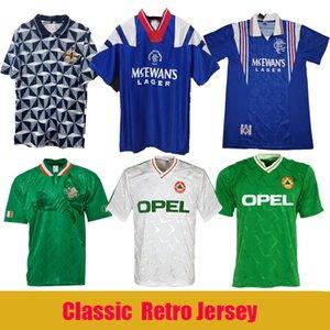Retro soccer jerseys 90 92 94 Ireland 90 93 Northern Ireland 92 94 96 97 Glasgow Rangers vintage jerseys 90 World Cup football soccer shirts