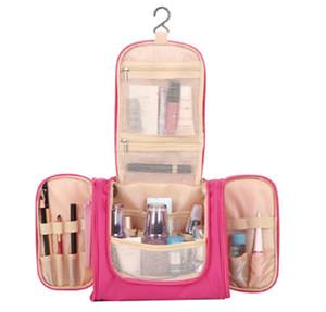 حقائب التخزين شنقا مزدوجة المفتوحة للماء متعدد جيب الضرورات السفر غسل يوميا منظم حقيبة مستلزمات السفر للنساء الرجال