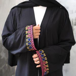 Embroidery Black Muslim Abaya For Women Ramadam Eid Mubarak Dress Turkish Middle East Arabic Kaftan Caftan Robe Musulmane Longue