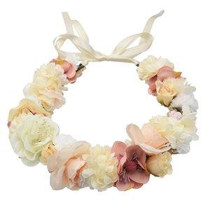 New Trendy Bridal Beautiful Flower Hairwear Ribbon Headwear For Woman Accessories Bridesmaid flower girl